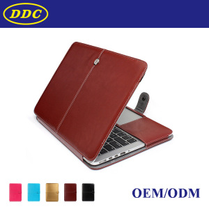 For macbook PU leather bag