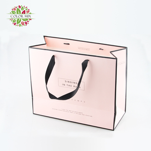 Guangzhou Custom Made Cost Production Branded Handmade Grocery Paper Bag With Logo Print