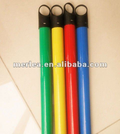 wooden mop stick floor mop stick pvc coated wooden broom handle of HIGH QUALITY