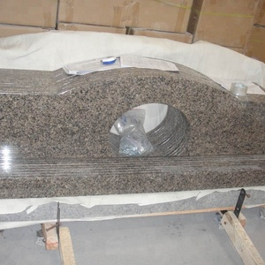 Polished Antico Brown Granite Hotel Banjo Vanity tops Bathroom Countertop
