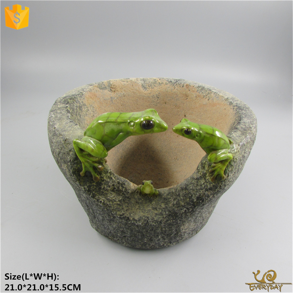Decorative Wholesale Cheap Garden Resin Animal Big Planter Pot Artificial Large Bonsai Flower Pot