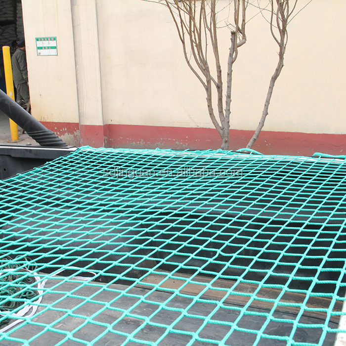 PE knotted cargo net for trailer cover
