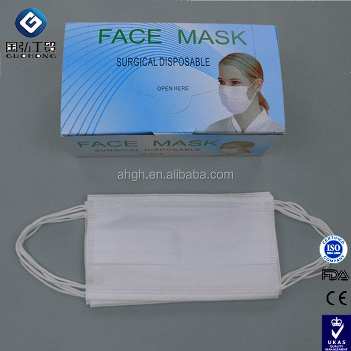 2 Ply Disposable Nonwoven Polypropylene Surgical Cleanroom Facemasks - Earloop / Head Ties / Head Loop