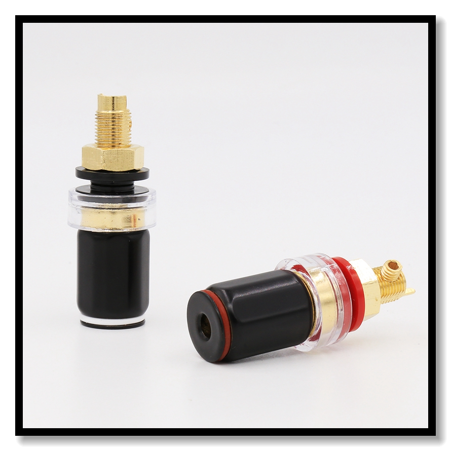 High Quality Gold Plated Amplifier AMP Speaker Terminal Binding Post Socket Hifi