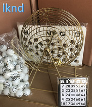 Family Classic Bingo Machine Cage Game Set Kit 75 Balls Numbered 20 Cards