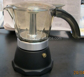 Ordinary PC up pot espresso stove top coffee maker 3 cups coffee pot