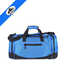 fashion durable waterproof big capacity duffle, leisure gym sports bag with bottle and wet compartment