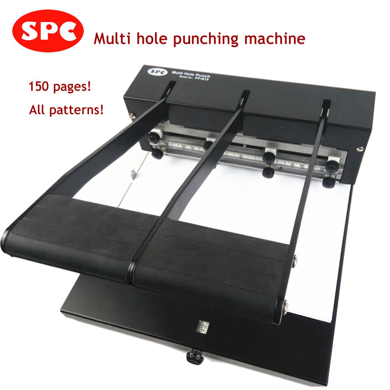 SPC new heavy duty manual multi hole multi pattern office punching machine for 1 2 3 4 5 6 7 holes