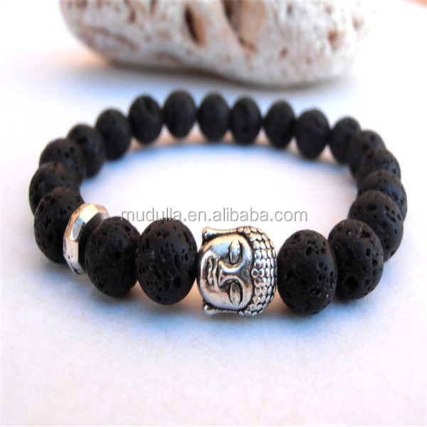 Genoeg B18 Groothandel Zwarte Boeddha Bedelarmband. Kralen Boedha Armband #XH92