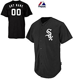 90ec18894 Get Quotations · Chicago White Sox CUSTOM or BLANK BACK Full Button Major  League Baseball Cool-Base Replica