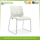 Fashion student office chair plastic training chair chrome metal base without armrest