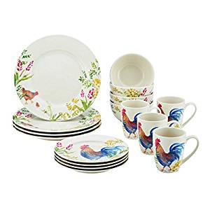 Get Quotations · Paula Deen Dinnerware Garden Rooster 16-Piece Stoneware Dinnerware Set Dishwasher Safe Microwave  sc 1 st  Alibaba & Cheap Most Popular Dinnerware find Most Popular Dinnerware deals on ...