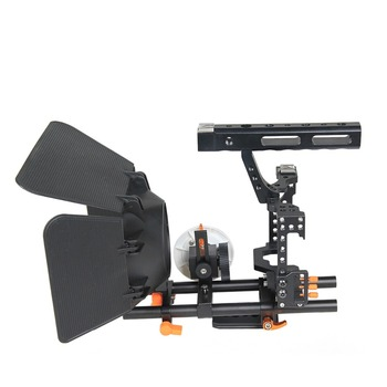 YELANGU C500-1 Camera Cage Kit Follow Focus Matte Box A7 CAGE SET for DSLR GH4 A7S A7 A7R A7RII A7SII
