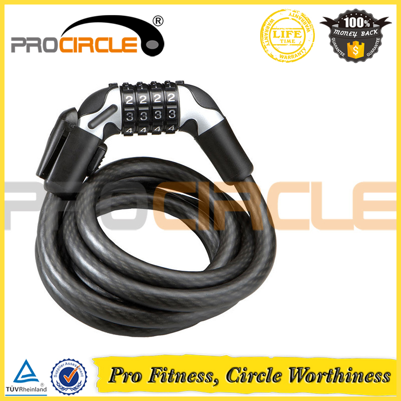 Combo Cable PVC Bracket With Keyring Bicycle Lock