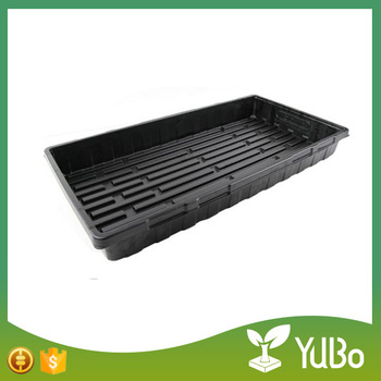 Made in china factory supply plastic hydroponic seedling tray, flat bean sprouts seedling tray