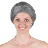 High quality Costume Old Lady Wig Synthetic Grandmother Wig Gray Wig