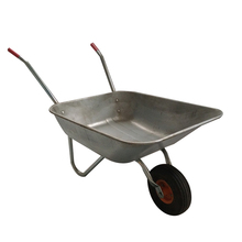 Heavy duty galvanized construction wheelbarrow