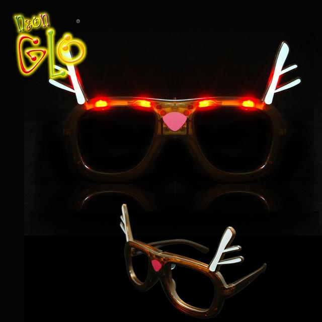 1223e25c4 Favores Do Partido dos miúdos Fantasia Acender Led Óculos de Sol de Natal  Brinquedo ...