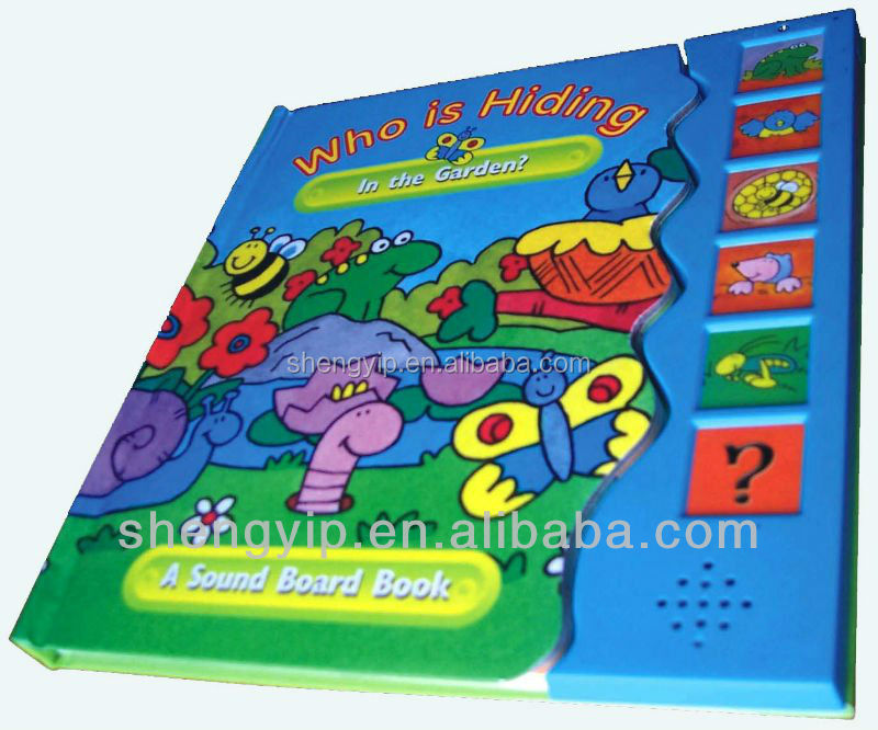 preschool hard cover board book electronic music chip voice recording make a noise audio book