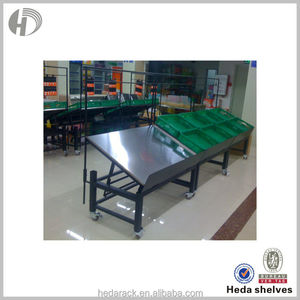 Various types of light duty supermarkets steel fruit stand vegetable rack for store layouts