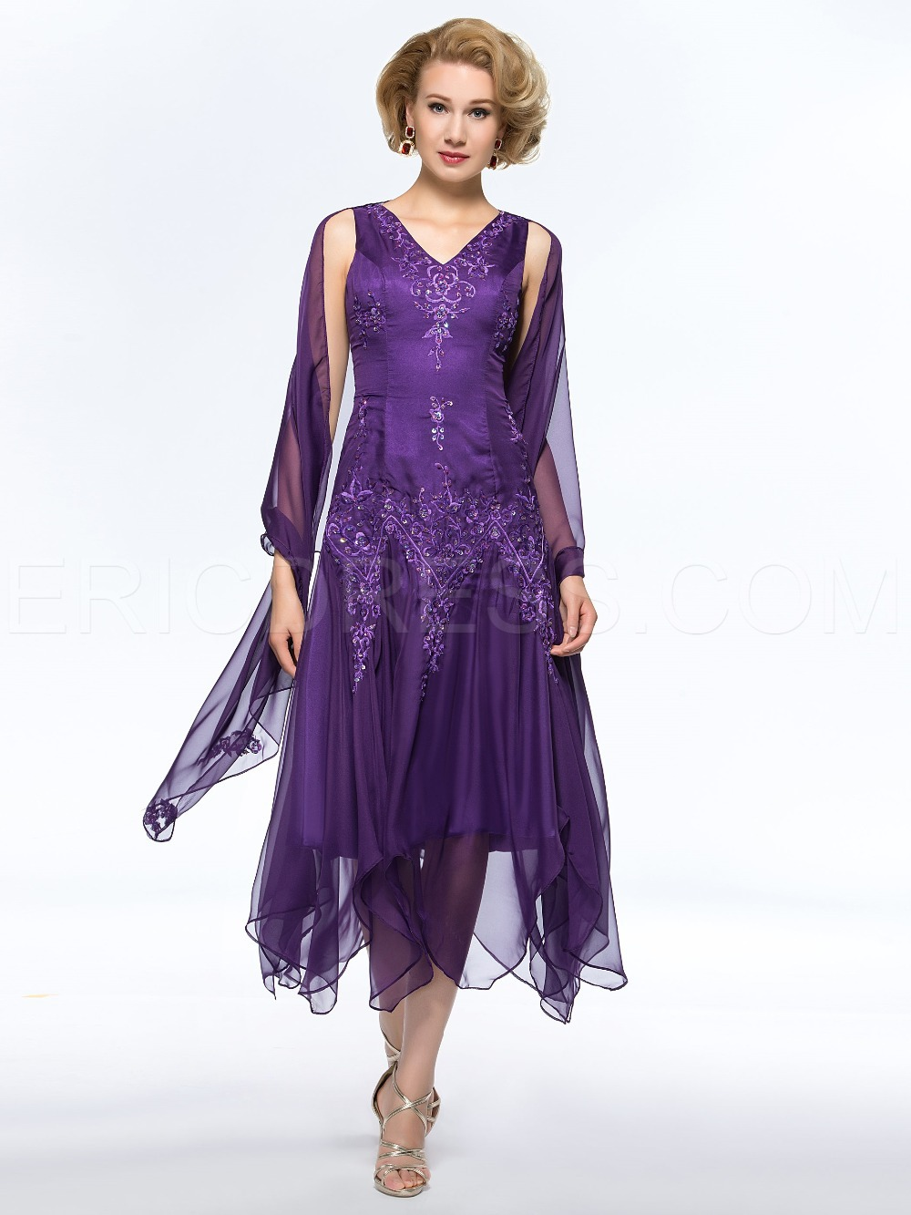 Get Quotations · Chiffon Tea Length Mother of the Lace Bride Dresses Pant  Suits Groom Brides Mother Dresses for 0e31d85fa8e2