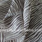zebra printed polyester crinkle/yoryu chiffion fabric