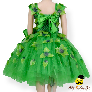 70e759baf05f Remake Fairy Kids Handmade Plain Green Tulle Leave Applique With Bow ...