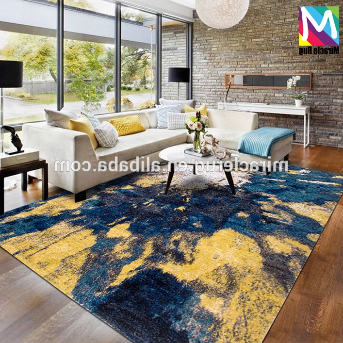 Por Home Decor Carpet 100 Pp Material Floor Use Area Rugs Modern Geometric Rug In Stock Machine Making