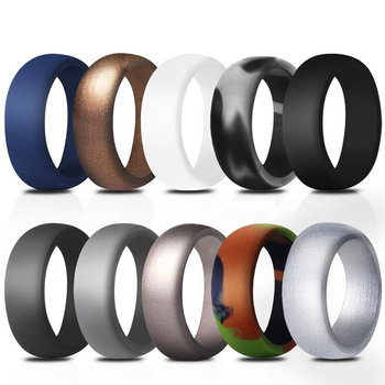 Unicorn Durability Crossfit Silicone Rubber Men Wedding Ring For