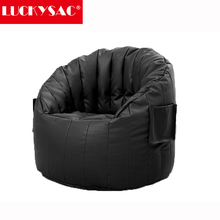 LUCKYSAC Supply Black Pumpkin Giant Beanbag Cushion Chair Indoor Outdoor Relax Garden Living Room