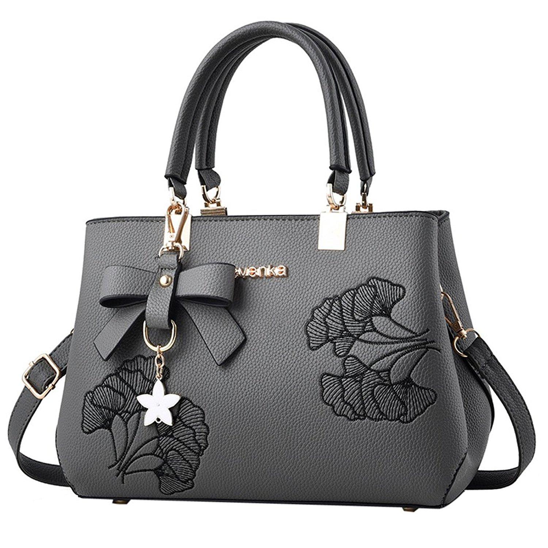 49ac98ac85 Get Quotations · Handbags for Women - Bageek Satchel Handbags Top Handle  Bag Women PU Leather Purses Black Handbag
