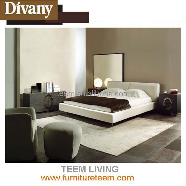 Divany modern stylecheap white leather bed chilli dog bed