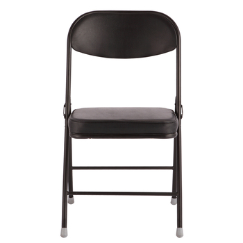 Four Leg Black Leather Modern Computer Foldable Office Chair