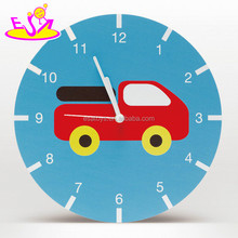2017 New design cartoon wooden kids wall clock for sale W09D020