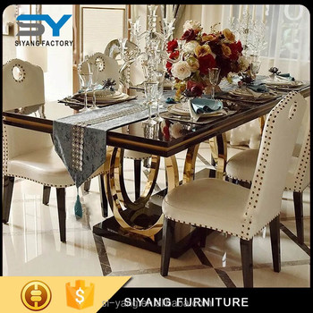 Polishing Stainless Steel Dining Table Ct008 Love Letter Set Product On Alibaba