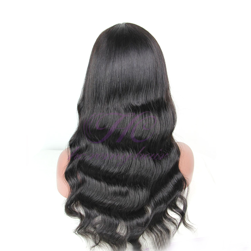 Popular Items 28 Inches Bleach Knots Glue Less Full Lace Wig