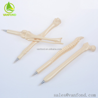 Promotional Plastic Novelty Bone Shape Ballpoint Pens