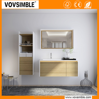 Waterproof wall-mounted modern MDF bathroom vanity and bathroom furniture