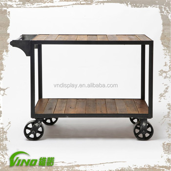 Weathering Wooden Display Cart With Wheels - Buy Wooden Display Cart,Wood  Craft Cart,Wood Carrying Cart Product on Alibaba com