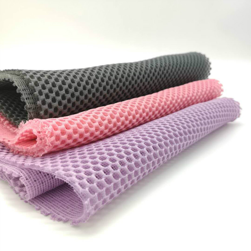 3D Massage netto polyester sandwich air mesh stof voor Matras sofa, brandvertragend, stijfheid