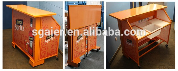 Portable Bar With Wheels Folding Bar Table Commercial Bar Counters