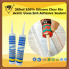 260ml 100% Silicone Clear Rtv Acetic Glass Smt Adhesive Sealant
