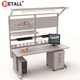 Detall industrial garage work bench drawer tool cabinet
