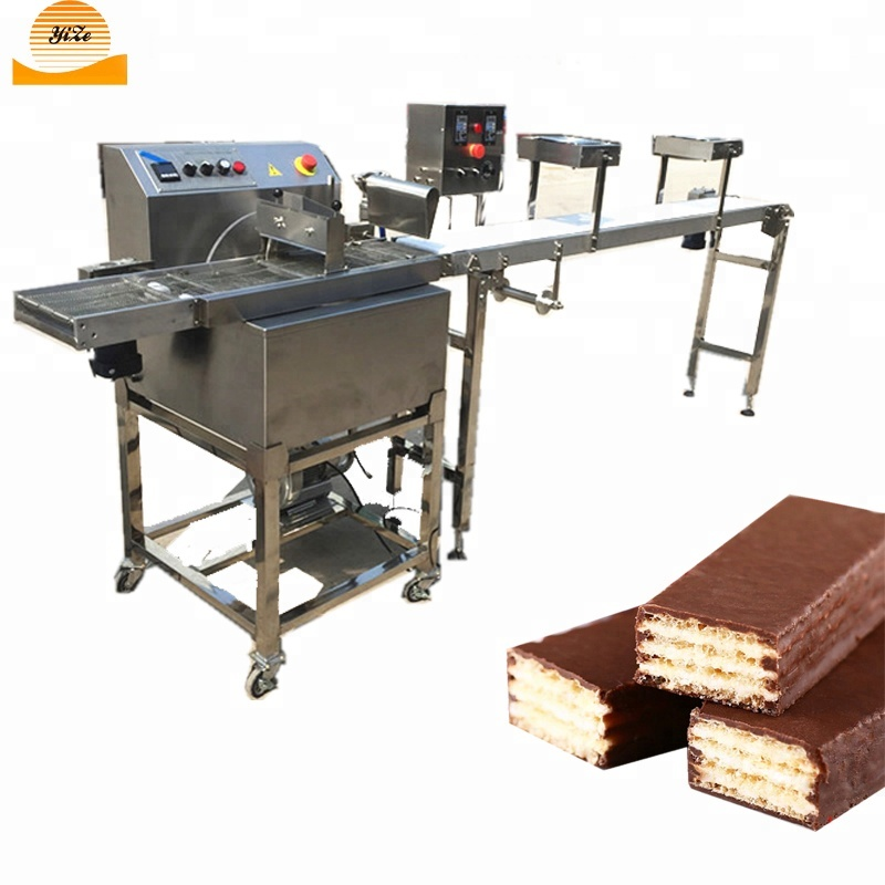 High Efficiency Chocolate Cake Enrober Chocolate Dipping Glazing Machine