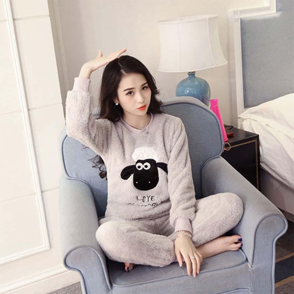 Get Quotations · Winter Luxury Pajamas Velvet Women Shuipao Pajamas Warm  And Comfortable Home Service Cozy Flannel Pajama Set 0c3ce5fee