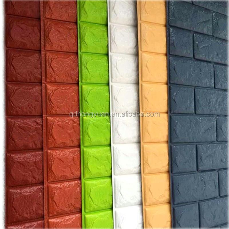 3d Mousse Papier Peint Brique Mousse Mur Autocollant