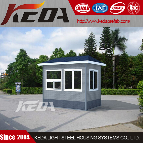 Guard booth security box mobile outdoor booth/kiosk