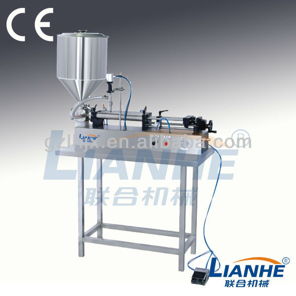 Multifunctional type (self suction & funnel) lotion & liquid filling machine
