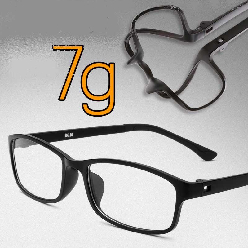 Buy Myopia glasses Men Women ultra-light tr90 full frame eyeglasses ...