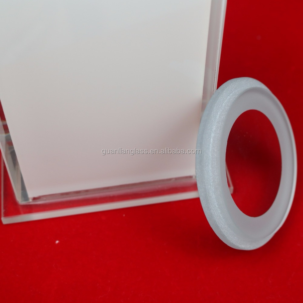 Hot sale white painted 8mm Sand Blasting Tempered Round Step Glass